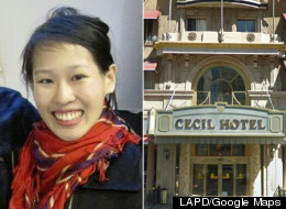 The body of Elisa Lam, 21, was found in a water tank on top of a Los Angeles hotel on Tuesday. (LAPD/Google Maps)
