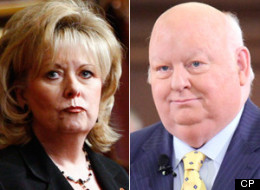 The government is moving to suspend Mike Duffy and Pamela Wallin from the Senate without pay. (CP)