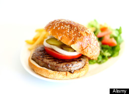 A hamburger or stir-fry from a chain restaurant may contain the total recommended daily amount of sodium Canadians should consume, a new study shows. (Alamy)