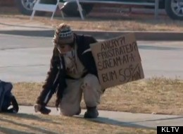 Calvin McCraw, a homeless Oklahoma man, invites people to vent to him for 50 cents a minute.