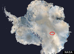 Lake Vostok in Antarctica, as seen by NASA satellite images.