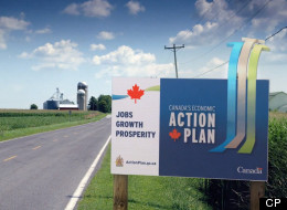 The Harper government spent $21 million on major advertising campaigns under its Economic Action Plan brand in 2011-12. (CP)