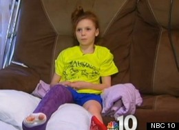 Sarah Givens, 10, recuperating after a driver struck her and fled the scene. Her sister, Kylee, who also suffered injuries in a different hit-and-run incident a few days later, is in intensive care.
