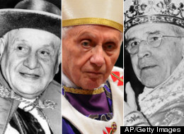 Three of the twentieth century popes had names among the 10 most popular in history. Pope John XXII, Pope Benedict XVI and Pope Pius XII are pictured here left to right. (AP/Getty Images)