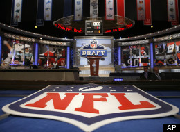 An NFL logo and stage is shown before the first round of the NFL Draft at Radio City Music Hall, Thursday, April 22, 2010, in New York. (AP Photo/Jason DeCrow)