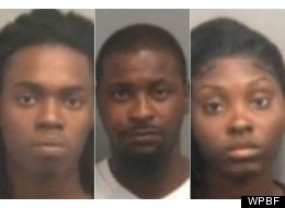 Robert Thompson, Alfred Peoples and Briana Walker were arrested following the brawl.