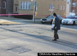 Police are examining each of the intersections involved in the road-rage-fueled shooting and crash in Jefferson Park Friday morning. ((DNAInfo/Heather Cherone)
