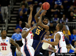 Ramon Galloway #55 of the La Salle Explorers looks to pass as he drives against the Mississippi Rebels during the third round of the 2013 NCAA Men's Basketball Tournament at Sprint Center on March 24, 2013 in Kansas City, Missouri. (Photo by Jamie Squire/Getty Images)
