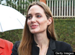 Angelina Jolie laid a wreath at the Gisozi genocide memorial in Kigali on March 26, 2013. (TEPHANIE AGLIETTI/AFP/Getty Images)