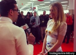 Blake Lively on the red carpet at a Toronto Target Canada store opening on March 27.
