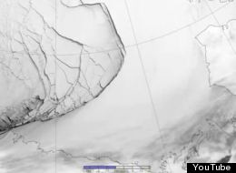 This dramatic ice fracture stretched from Alaska all the way to Canada's Arctic islands.