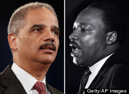 Attorney General Eric Holder said Thursday that Martin Luther King Jr. would not be satisfied with the state of voting rights in America.