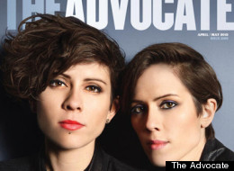 Tegan And Sara on the cover of The Advocate.