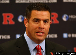 Rutgers University Athletic director Tim Pernetti makes his opening remarks during a press conference announcing that Rutgers University is joining the Big Ten Conference on November 20, 2012 at the Hale Center in Piscataway, New Jersey. (Photo by Elsa/Getty Images)