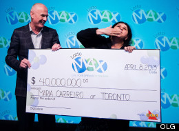 Maria Carreiro collects her $40 million cheque. (OLG)
