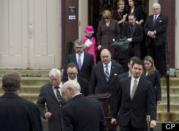 More than 100 family and friends of Rehtaeh Parsons are gathered in a Halifax church saying goodbye to the young woman who took her own life after months of bullying. (THE CANADIAN PRESS/Andrew Vaughan)