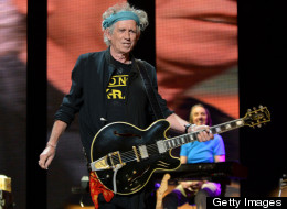 Keith Richards performed at the show.