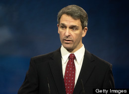 Virginia gubernatorial candidate Ken Cuccinelli faces opposition from Democrats, who plan to cast the state attorney general as a right-wing, Tea Party favorite. (Photo by Marvin Joseph/The Washington Post via Getty Images)