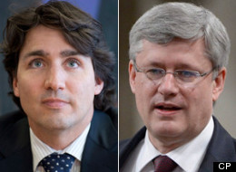 Terrorist attacks should prompt manhunts, not soul searching, Prime Minister Stephen Harper said Wednesday in a thinly veiled jab at his new Liberal rival Justin Trudeau after a comment on the Boston bombings in an interview with CBC's Peter Mansbridge.