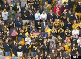Boston Bruins fans delivered an emotional rendition of the national anthem.