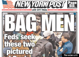 New York Post cover on April 18, 2013.