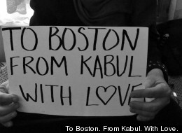 To Boston. From Kabul. With Love.