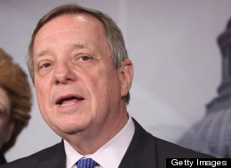 Senate Majority Whip Dick Durbin (D-Ill.) is supporting legislation to collect sales tax on online purchases. (Photo by Chip Somodevilla/Getty Images)