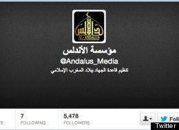 This screencap shows a portion of the Twitter Page of Al Qaeda in the Islamic Maghreb, which goes by the handle @Andalus_Media (Twitter)