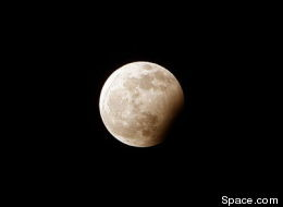 A partial lunar eclipse will occur on Thursday afternoon.