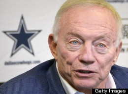 Dallas Cowboys owner Jerry Jones holds a pre-draft press conference in the scouting atrium at Valley Ranch in Irving, Texas, Monday, April 22, 2013. (Max Faulkner/Fort Worth Star-Telegram/MCT via Getty Images)