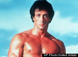 This undated publicity image originally released by United Artists shows Sylvester Stallone posing in character as Rocky Balboa in the boxing film,