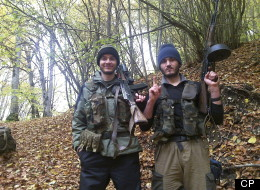 n this undated photo provided by the Dagestani branch of the Federal Security Service, the Canadian, William Plotnikov, left, poses for a photo. Russian agents placed the elder Boston bombing suspect under surveillance during a six-month visit to southern Russia last year, then scrambled to find him when he suddenly disappeared after police killed a Canadian jihadist, a security official told The Associated Press. (AP Photo/Dagestani branch of the Federal Security Service via NewsTeam)