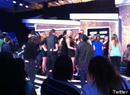 Contestants and family members congratulate the winner of 'Big Brother Canada' after Topaz's controversial vote. (Twitter, @atiasyed)
