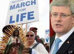 Organizers of this year's March for Life events were on Parliament Hill Wednesday accusing Prime Minister Stephen Harper of shutting down any form of discussion or debate on abortion. (CP)