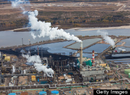 A large oil refinery along the Athabasca River in Alberta's Oilsands.