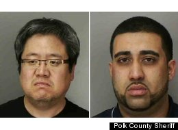 Samuel Yoon, left, and Mohammed Ahmed were among 92 people arrested.