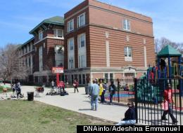 The Chicago Teachers Union is planning a massive round of weekend protests at each of the schools, including Stewart Elementary in Uptown, pictured, slated for closing. (DNAinfo/Adeshina Emmanuel)