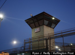 A guard tower overlooking Guantanamo's Camp Five and Six (Ryan J. Reilly / Huffington Post).