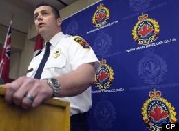 Hamilton Police Superintendent Dan Kinsella announced Mark Smich's arrest on Wednesday. (Nathan Denette/CP)