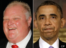 The Rob Ford crack scandal has captured world attention and catapulted Toronto's controversial mayor past U.S. President Barack Obama in Google searches. (CP)