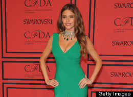 Sofia Vergara attends the CFDA awards on June 3, 2013 in a curve-hugging emerald dress.