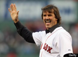 Dennis Eckersley heads out to throw the ceremonial first pitch on May 20, 2011 at Fenway Park in Boston, Massachusetts.on May 20, 2011 at Fenway Park in Boston, Massachusetts. The Chicago Cubs and the Boston Red Sox haven't played each other at Fenway Park since the 1918 World Series. (Photo by Elsa/Getty Images)