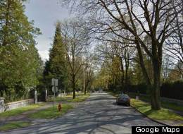 Two streets in Vancouver's Shaughnessy neighbourhood have the highest average home values in all of Canada. (Google Maps)