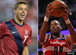 Soccer player Robbie Rogers and NBA basketball player Jason Collins are just two gay athletes to come out publicly. (Getty Images)