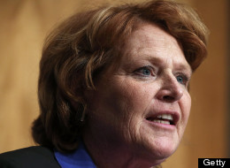 Sen. Heidi Heitkamp (D-N.D.) has become the 49th cosponsor of the Employment Non-Discrimination Act in the Senate. (Photo by Alex Wong/Getty Images)