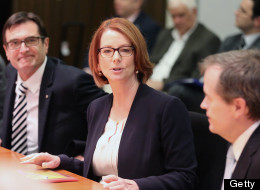 Australia's Prime Minister Julia Gillard fired back over a sexist menu item that mocked her breasts and private parts. (Getty Images)