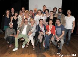 Comédiens et artisans de la pièce au Café Cléopâtre, le mercredi 12 juin 2013. (Crédit photo: Agence QMI)