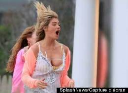 Potin de star: Kate Upton a failli en montrer trop. (Photo: SplashNews/Capture d'écran)