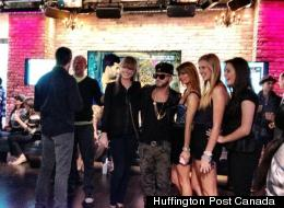 Quebec's Karl Wolf gets comfy at the MMVA pre-party reception in Toronto. (Huffington Post Canada)