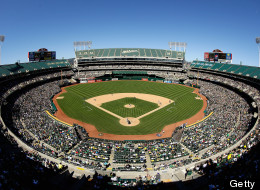 OAKLAND, CA - JUNE 16:  A general view during the Oakland Athletics game against the Seattle Mariners at O.co Coliseum on June 16, 2013 in Oakland, California.  (Photo by Ezra Shaw/Getty Images)